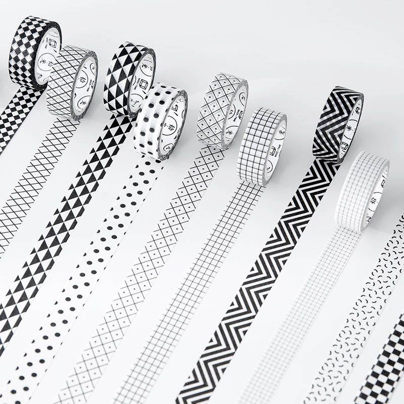Diy Kawaii Dot Stripe Masking Washi Tape Scrapbooking Grid