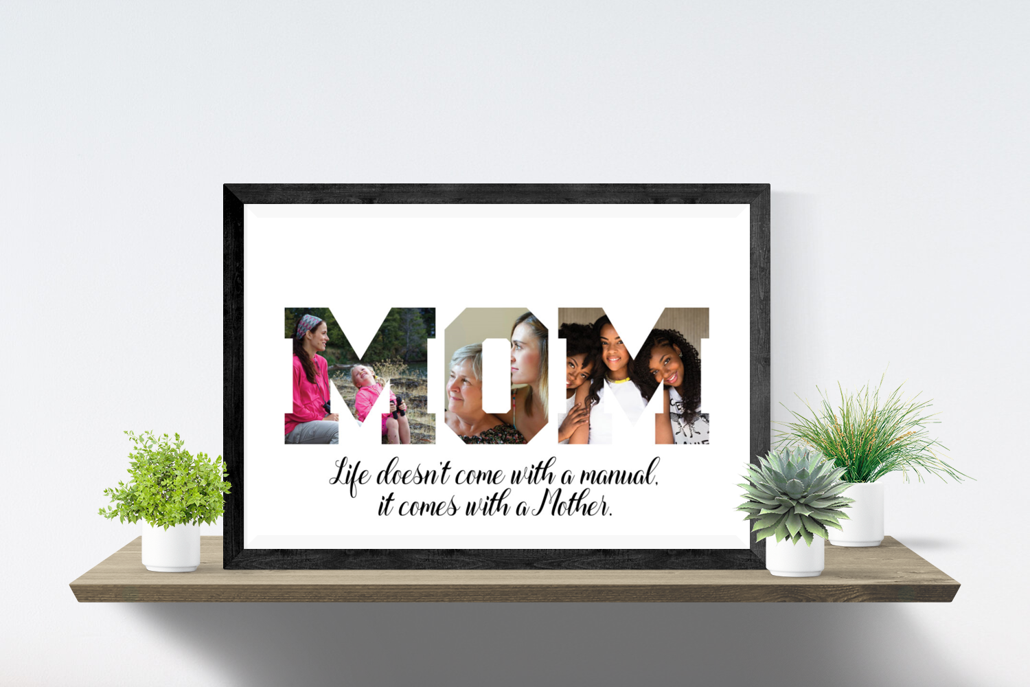 Printable MOM Photo Collage Mothers Day Gift Birthday For Mom PDF