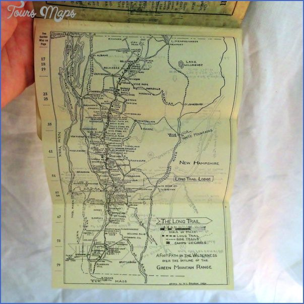 awesome THE LONG TRAIL MAP VERMONT | Trail maps, Appalachian ...
