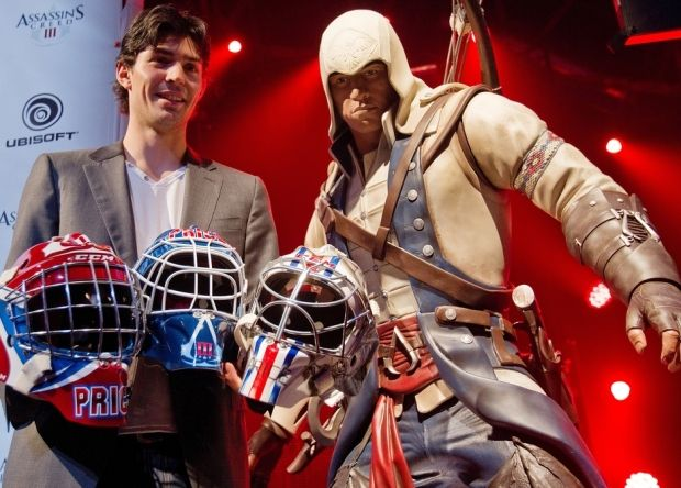 Canadiens Goaltender Carey Price At Ubisoft Launch On