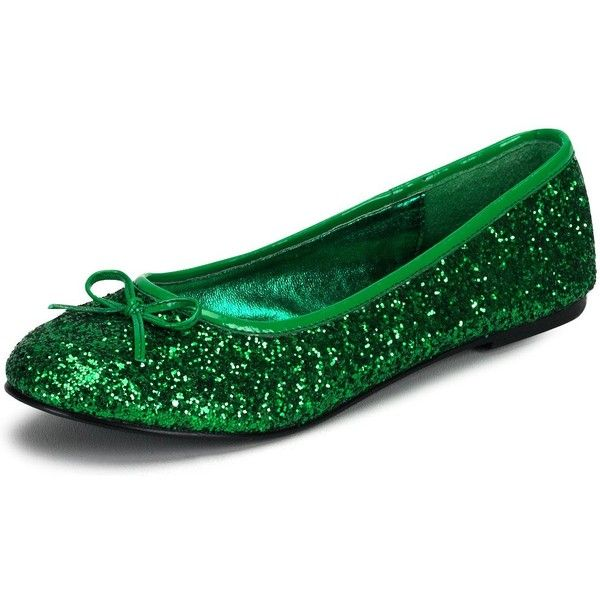 a916749edafd Green Glitter Shoes ❤ liked on Polyvore