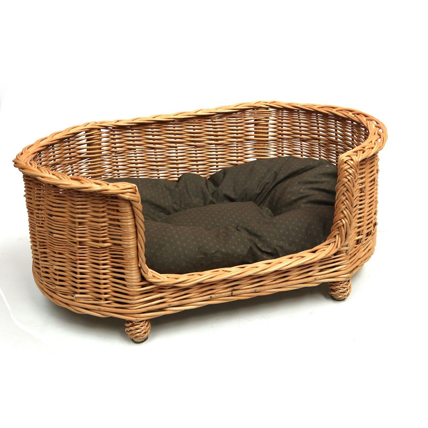 Big Sofa Vintage Look Luxury Large Wicker Dog Bed Basket Settee Pets Mimbre