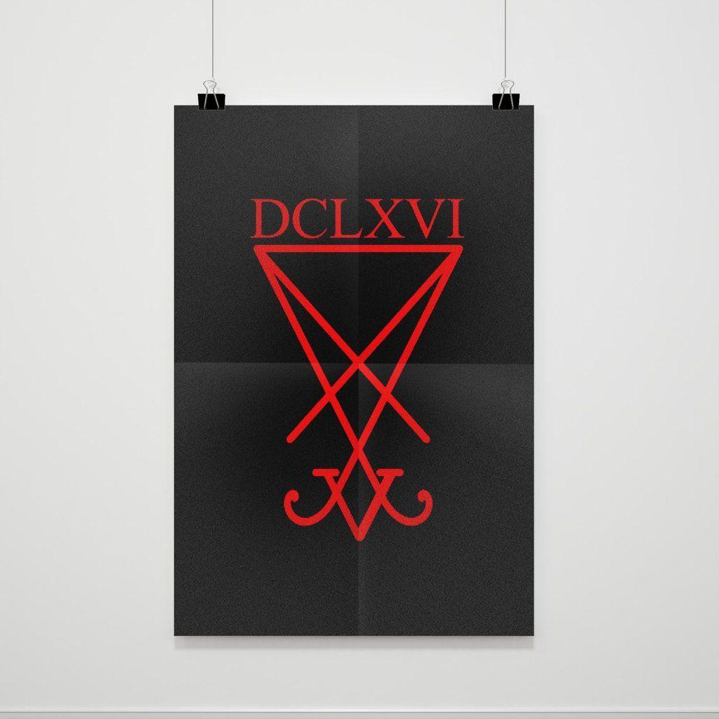 Lucifer Dclxvi Logo Poster Poster Lucifer Logo