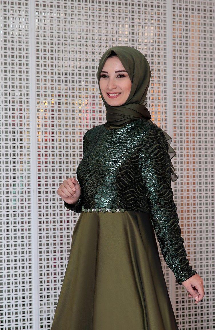 360cf638939f8 Sefamerve Tesettür Pul Payetli Abiye Elbise Modelleri | Tesettür in ...