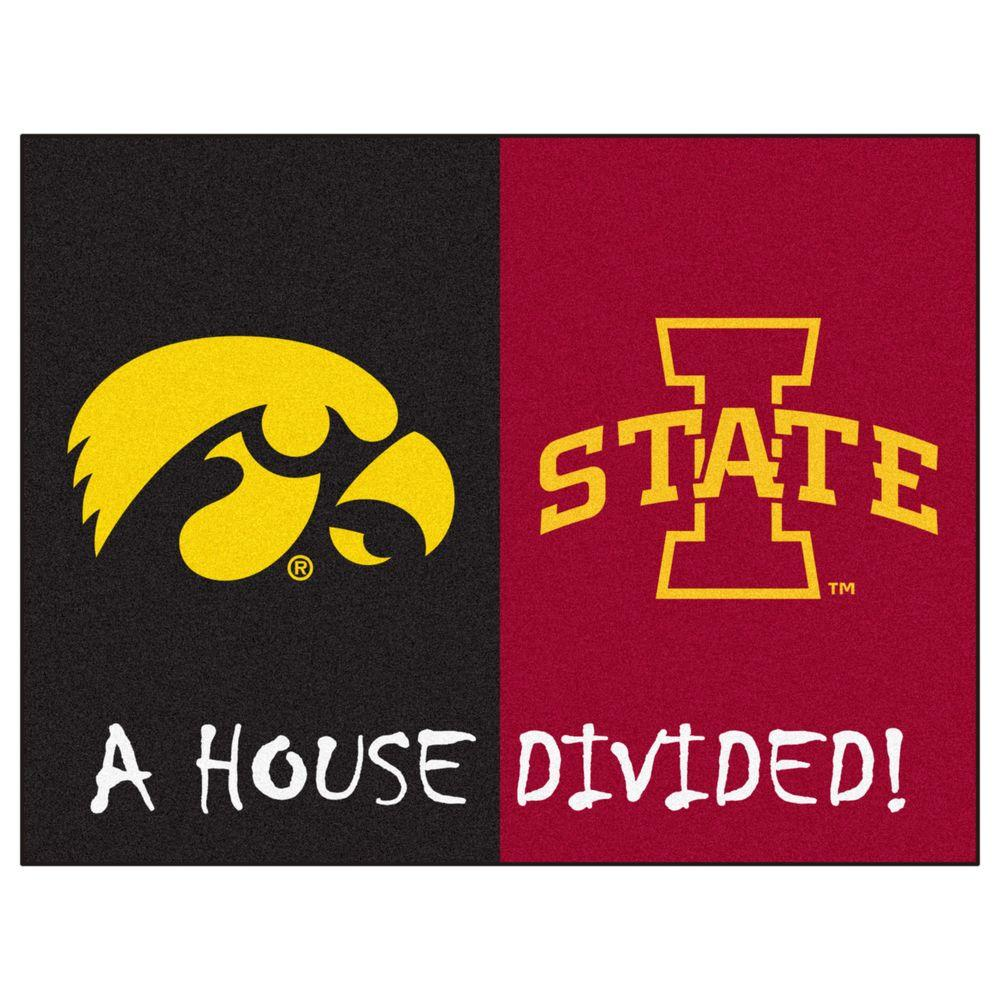 Fanmats Ncaa Iowa Iowa State House Divided 3 Ft X 4 Ft Area Rug