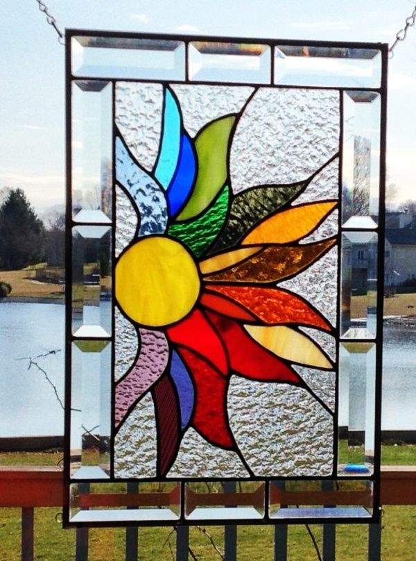 42 Beautiful Glass Painting Ideas And Designs For Beginners Modern Stained Glass Stained Glass Diy Stained Glass Panels