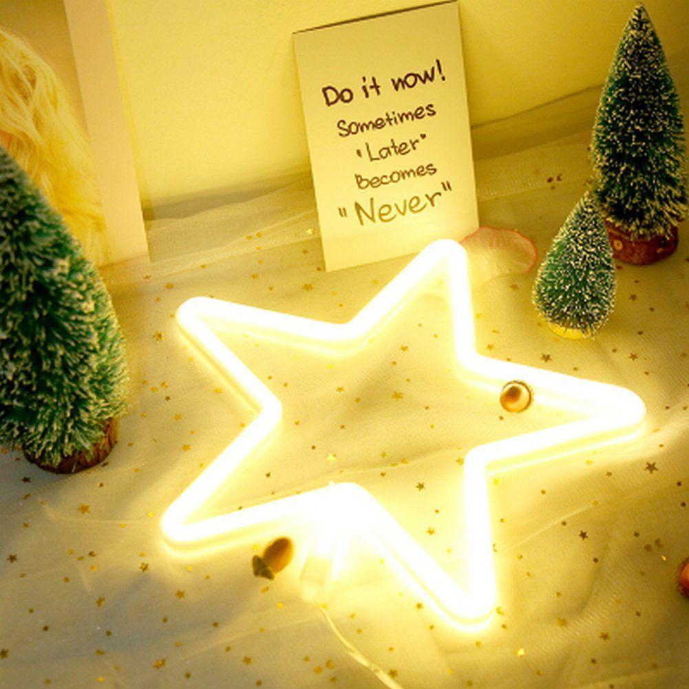 Neon Lights LED Star Signs Light Neon Art Decorative Lights Wall ...