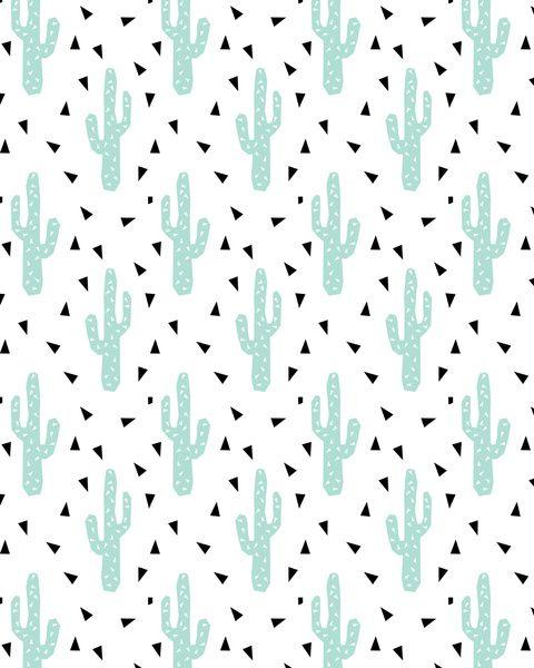 Cactus Modern Minimal Pattern Print Triangles Geometric Trendy Hipster Coachella Festival Art Minimal Patterns Cactus Prints Pattern Cute Patterns Wallpaper