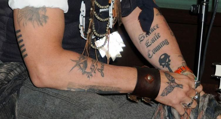 Johnny Depp Tattoos Tattoos Styles And Meanings Tatuering