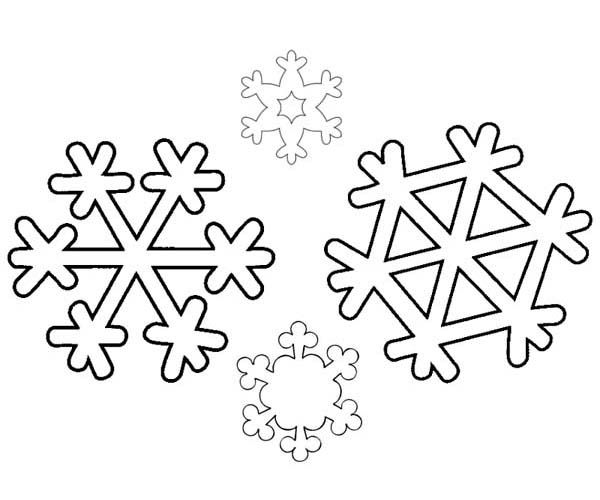 Two Identical Winter Snowflakes Coloring Page - Free & Printable ...