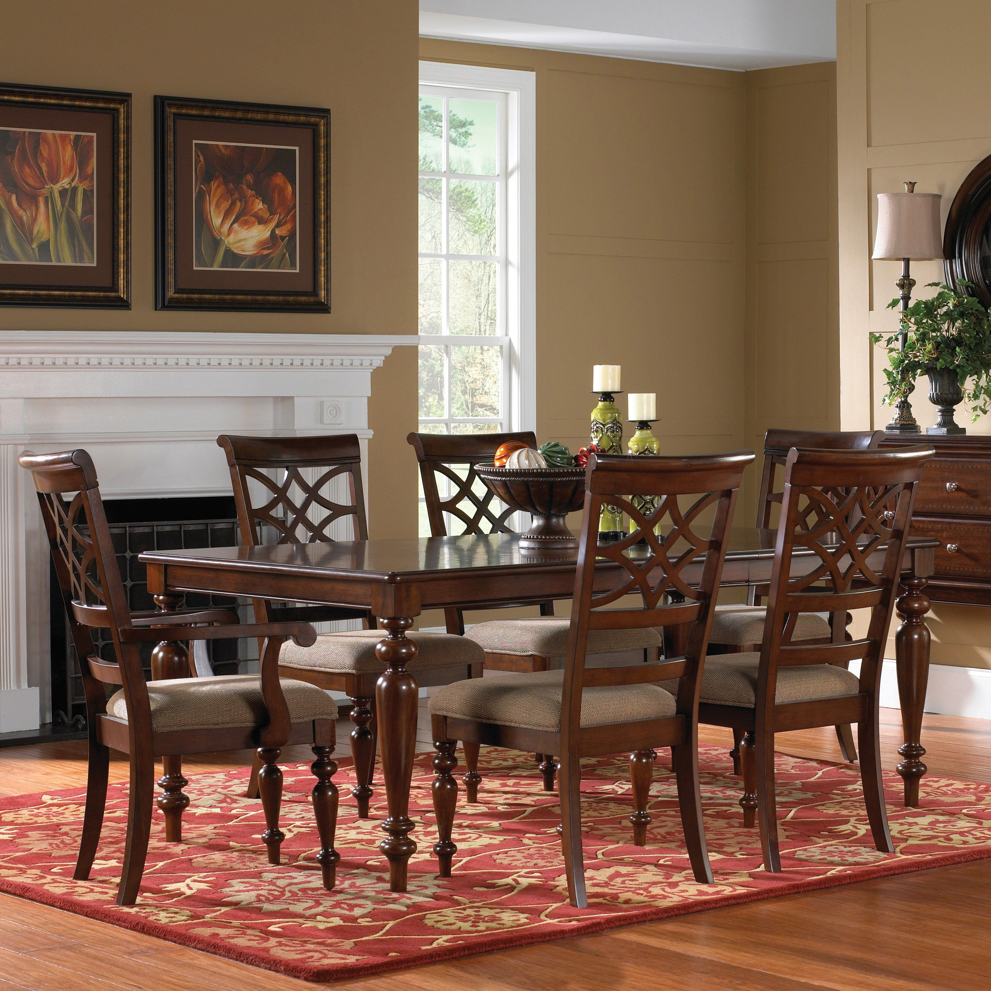 Have To Have It Standard Furniture Woodmont 7 Piece Rectangular Dining Table Set 106 Rectangular Dining Table Standard Furniture Counter Height Dining Sets