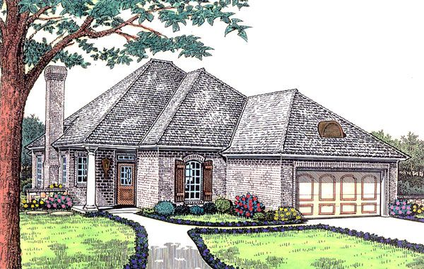 Traditional Style House Plan 66196 With 3 Bed 2 Bath 2 Car Garage Southern House Plans House Plans Ranch House