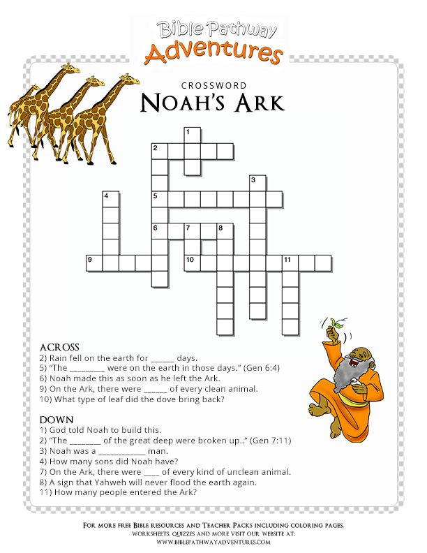 Noah S Ark Bible Story The Great Flood Sunday School Lessons