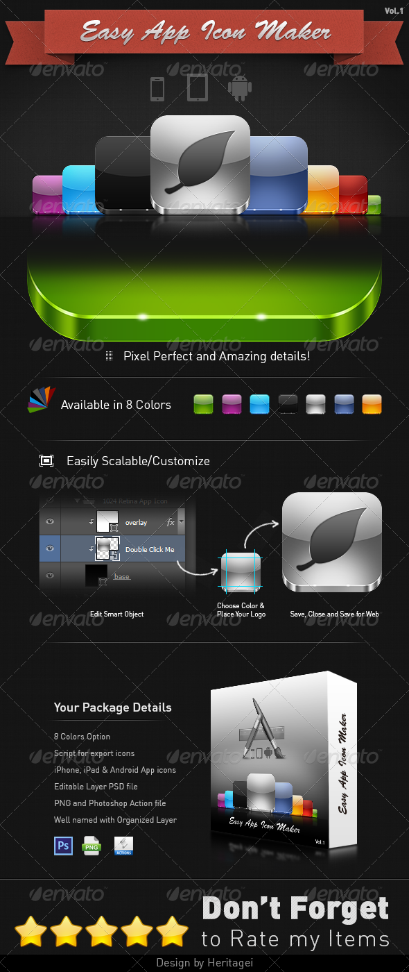 Easy App Icon Maker Software Icons App template design