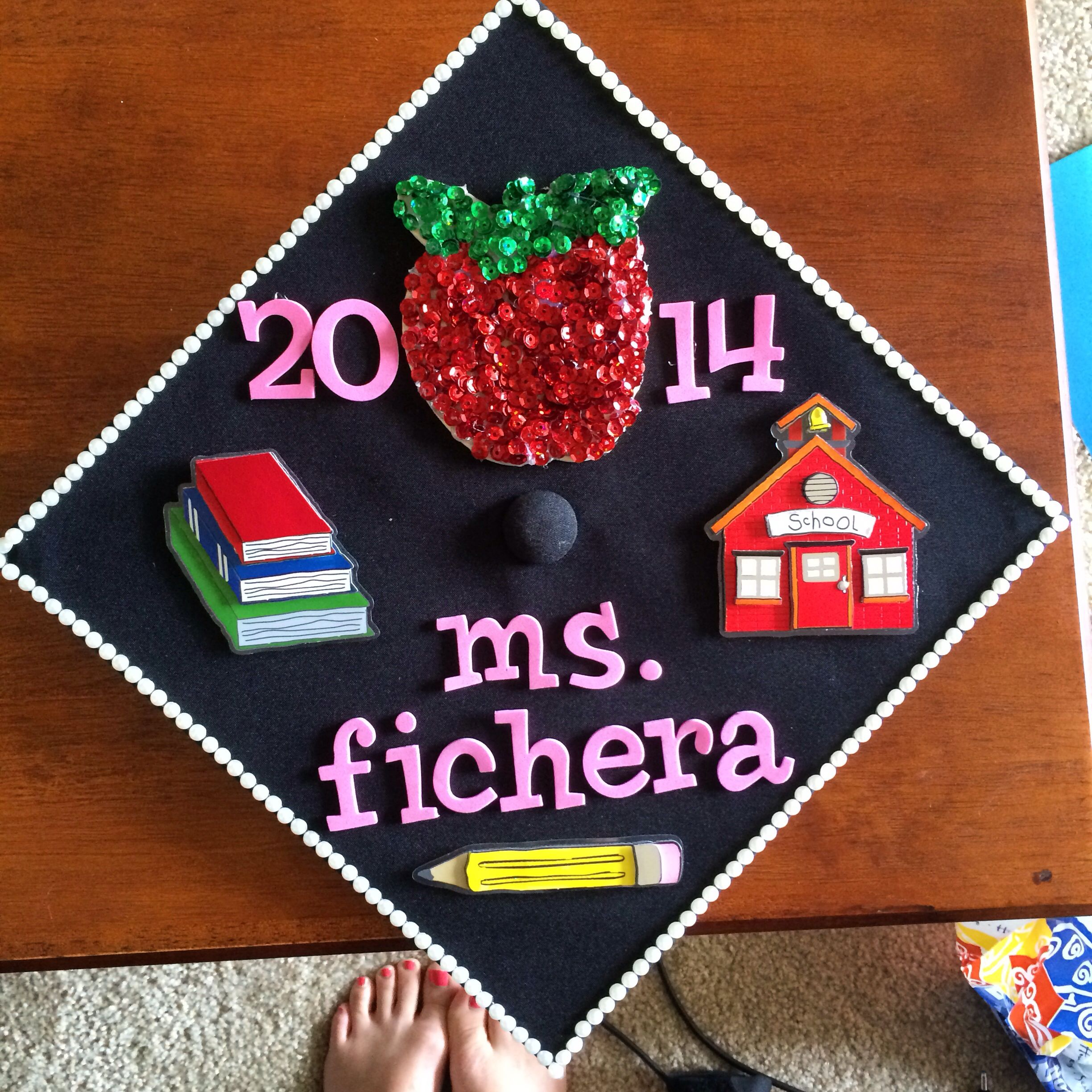 Decorating graduation cap ideas for teachers - My Graduation Teacher Cap Ucf