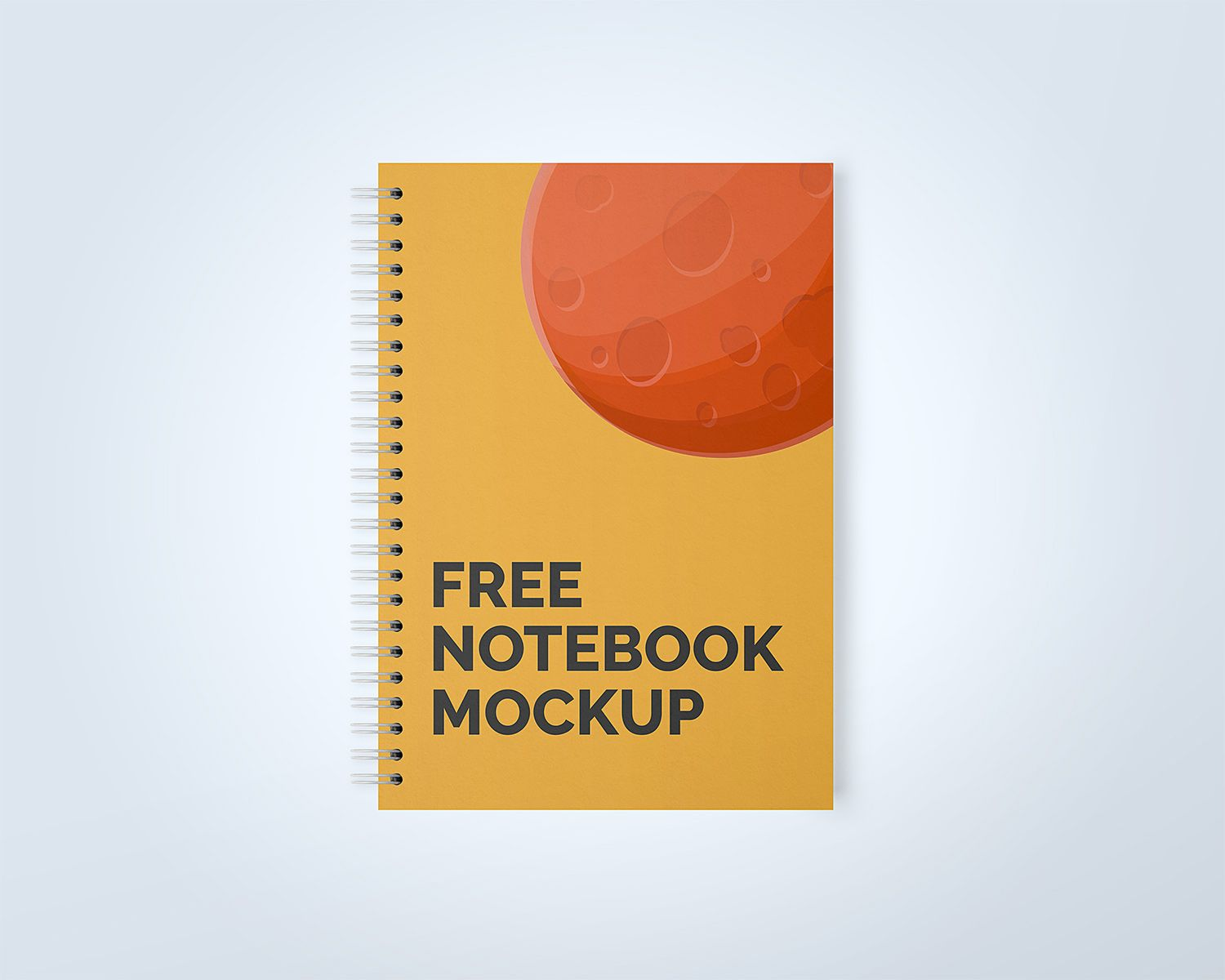 Download Realistic Spiral Notebook Mockup Yellowimages