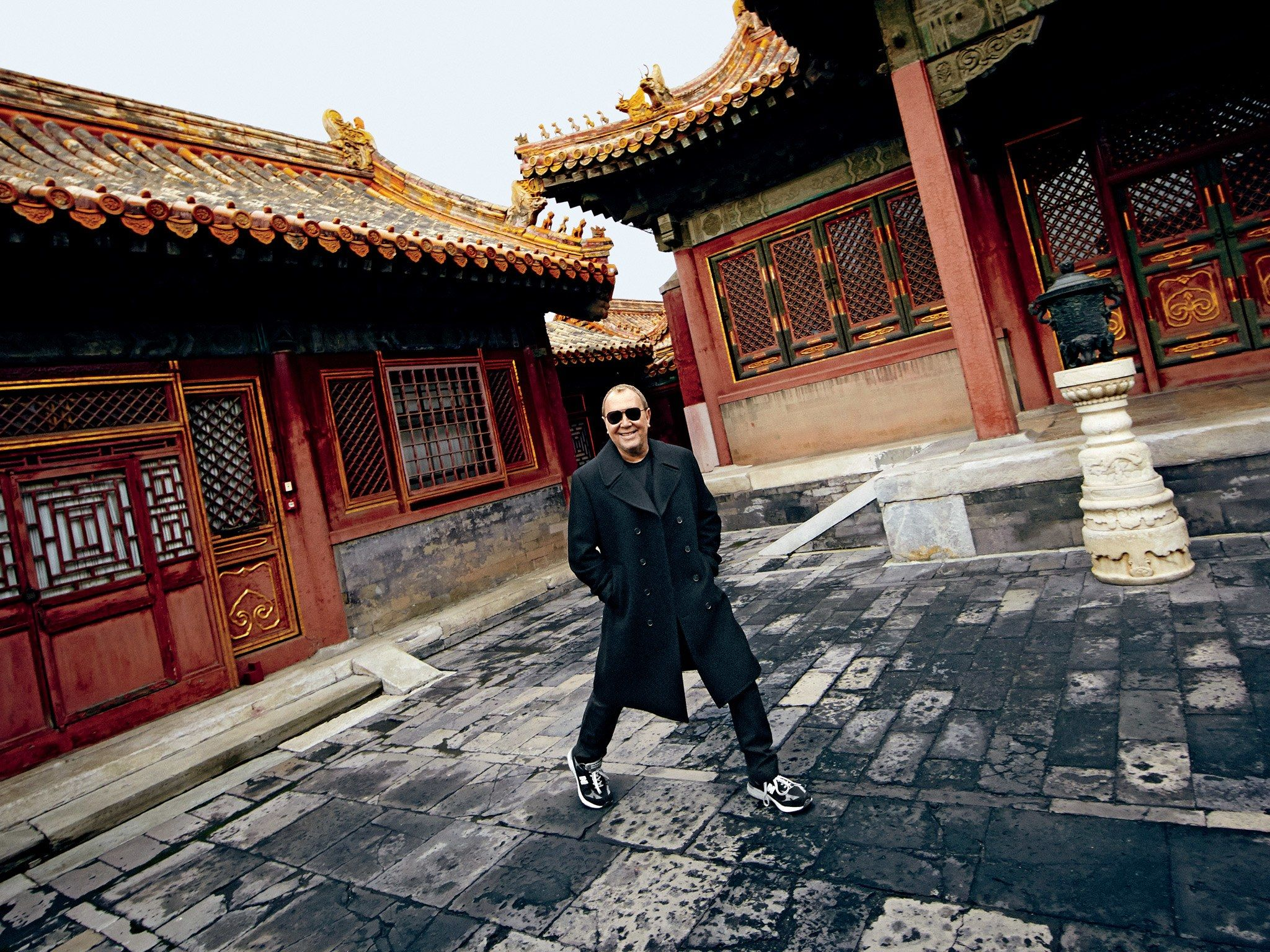 Designer Michael Kors knew that if he really wanted to experience Beijing in two days, he'd have to leave the legwork to the pros.