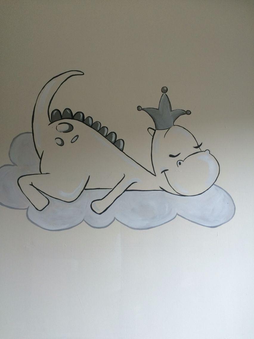 dirkje draak wandschildering dingen voor baby s