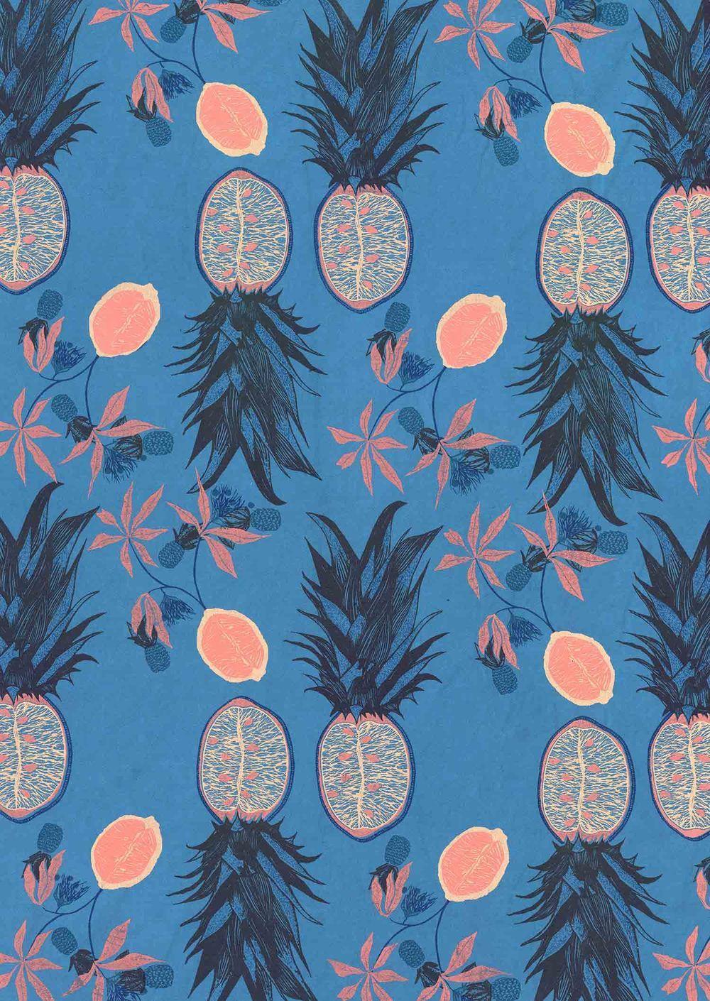 Pineapple Print by Hannah Rampley.