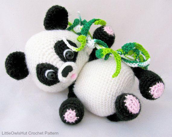 Panda häkeln | Häkelsachen | Pinterest | Häkeln, Tiere häkeln und ...