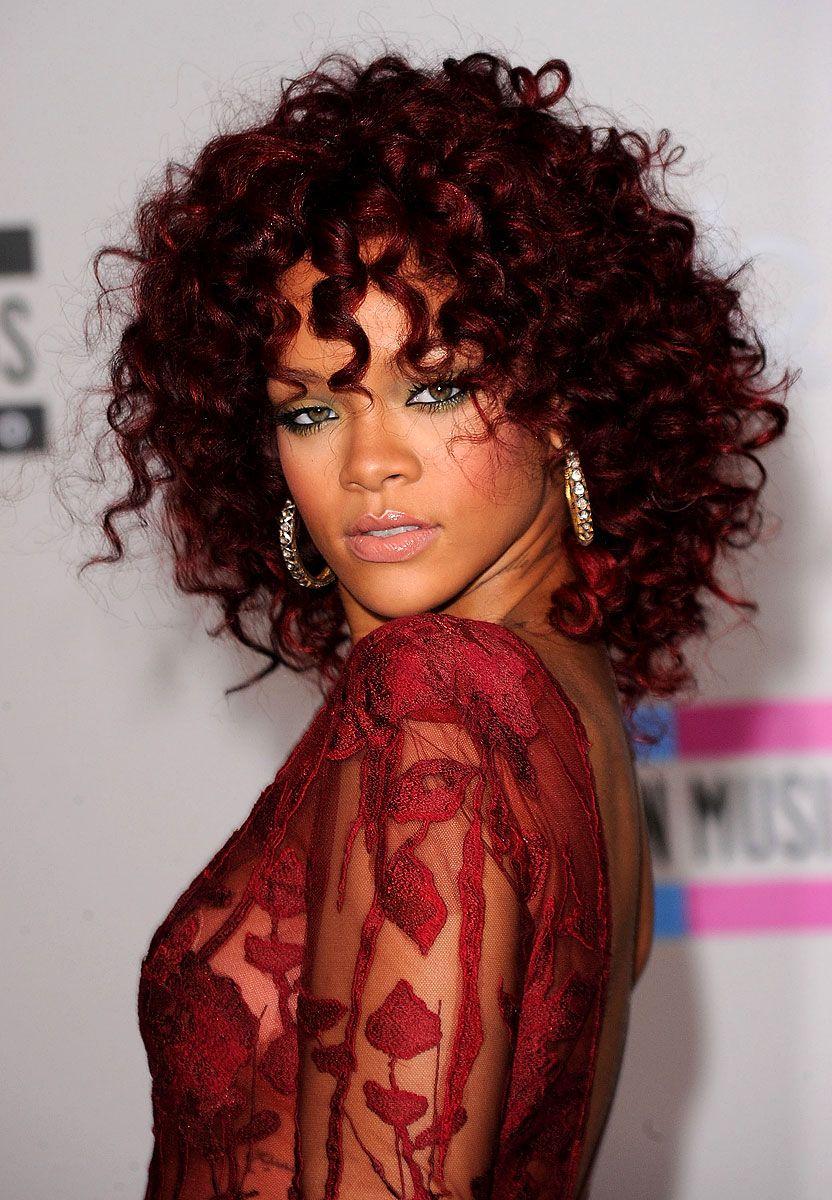 Rihanna Red Big Curly Hair Hair Hair Styles Hair Curly Hair Styles