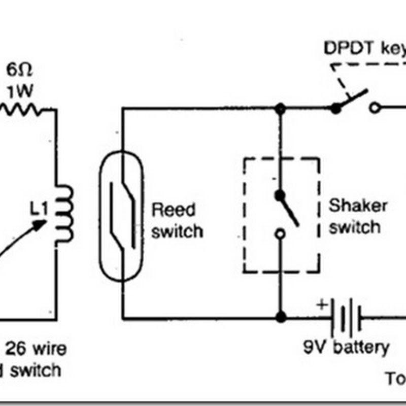 diy auto burglary alarm circuit diagram using reed switch limit switch 3 wire reed switch wiring diagram