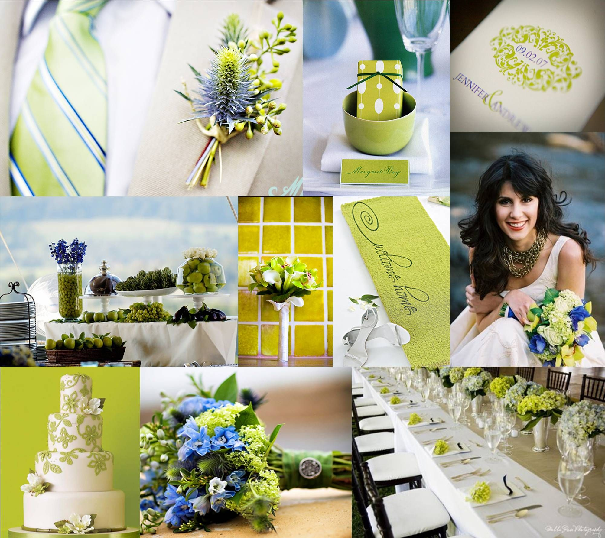 Favorite Board Lime And Periwinkle