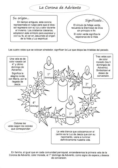 El Rincón de las Melli: ADVIENTO (Corona de Adviento) | religion ...