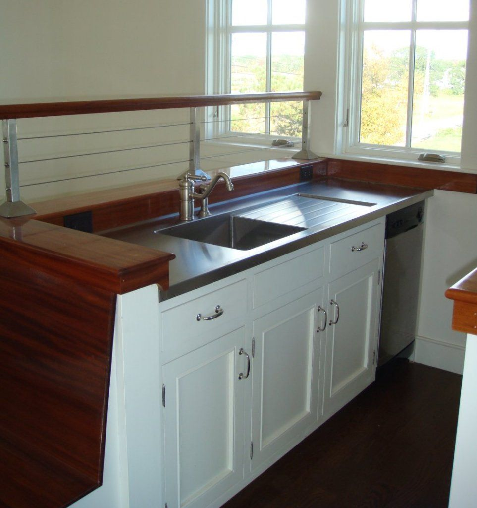 SS counter with sink and drainboard  Renovation
