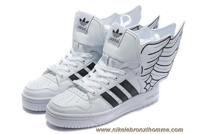 0c0c4ebc04a Pas Cher Adidas X Jeremy Scott Wings 2.0 Chaussures Blanc Noir ...
