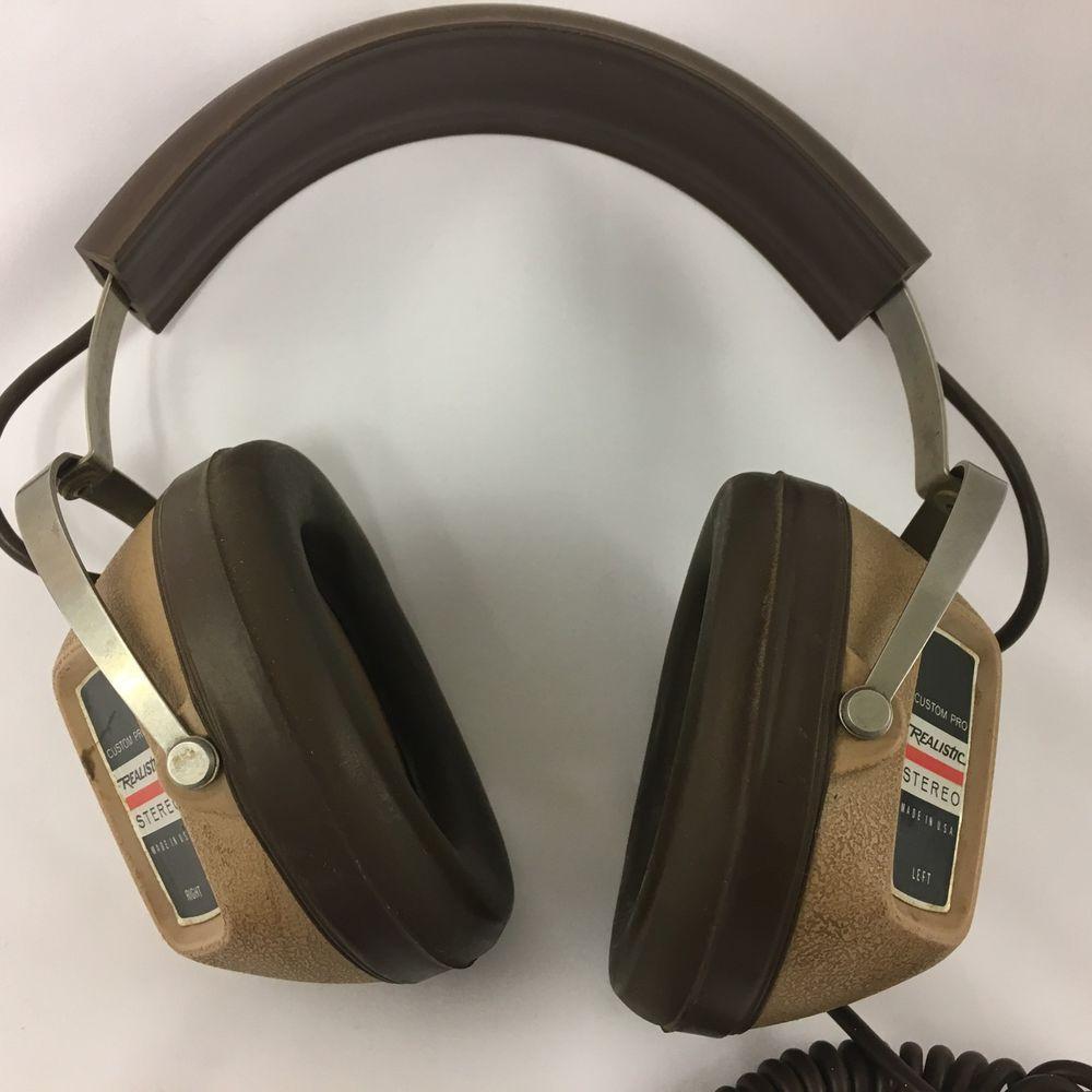 c638e867bdf Vintage Realistic Custom Pro Stereo Headphones made USA by KOSS for Radio  Shack #Koss