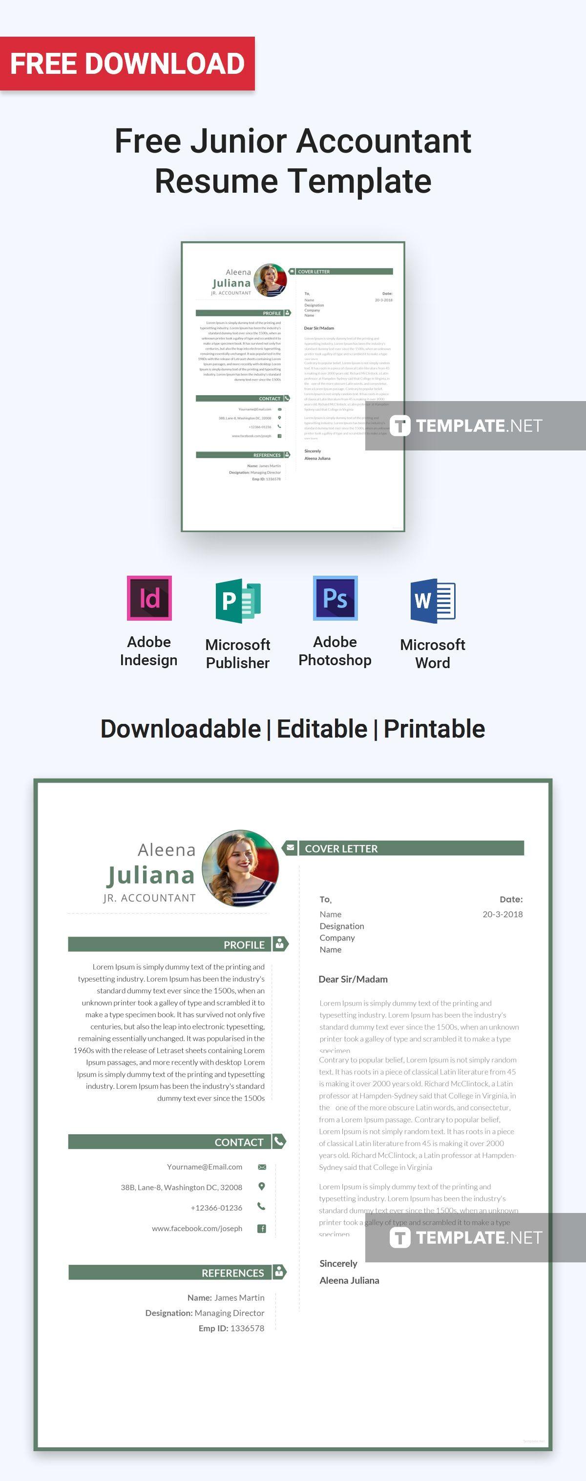 junior resume layout