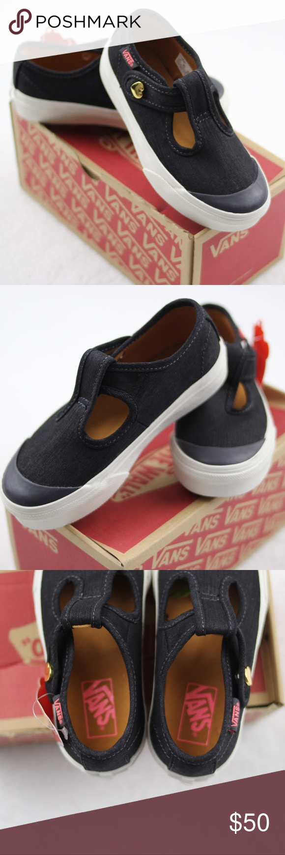 19c19a395a143f NEW VANS toddler black pink heart Leena 11.5 NWT These Leena VANS are brand  new