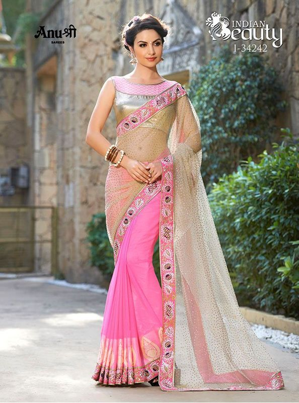 670d9f2fd4 Net glitter pallu sarees with heavy georgette jacquard sarees, heavy multi  secquince embroidered lace with piping border with blouse piece