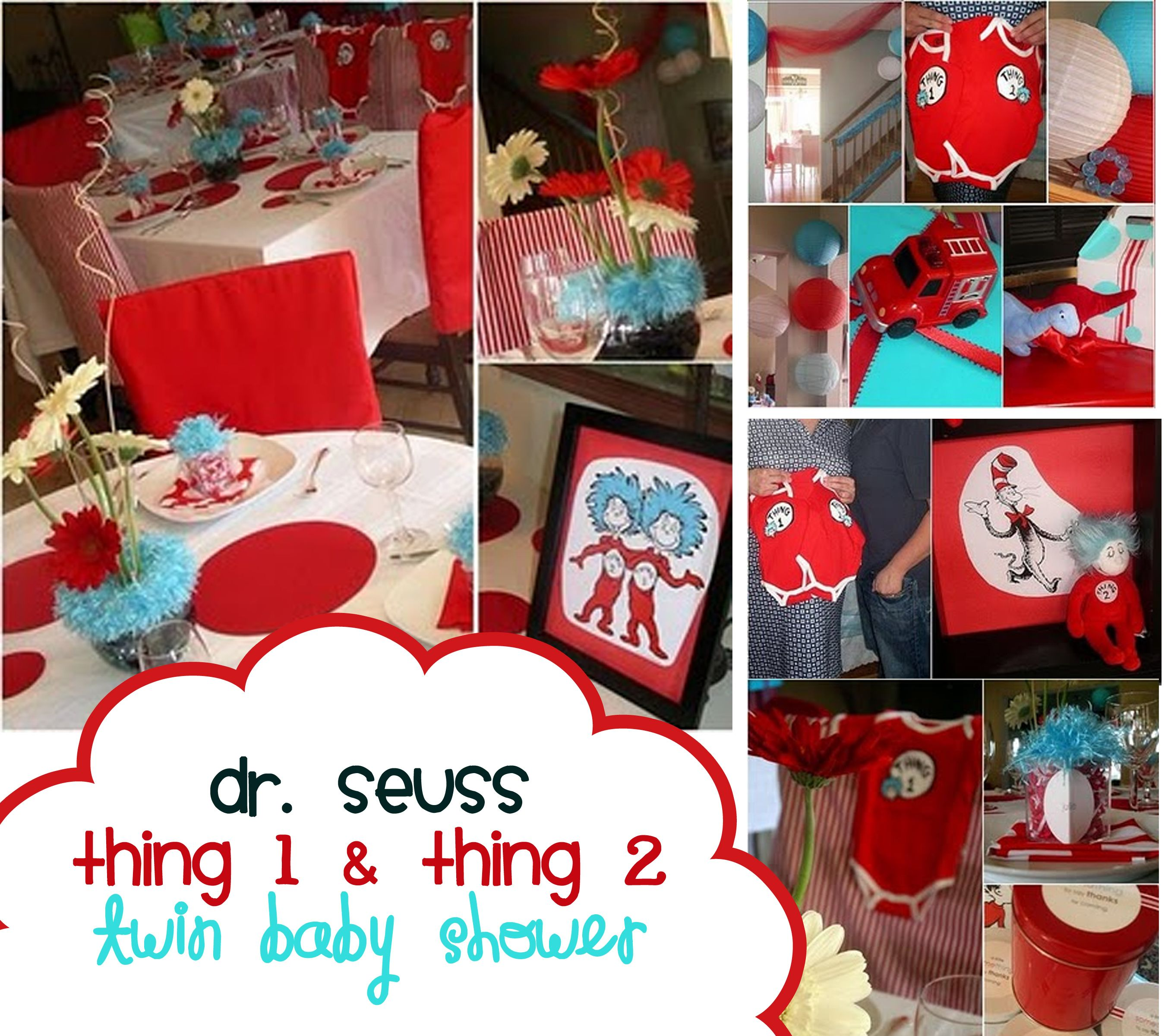 Dr Seuss Party Ideas – Birthday Baby Shower Twins Shower Theme