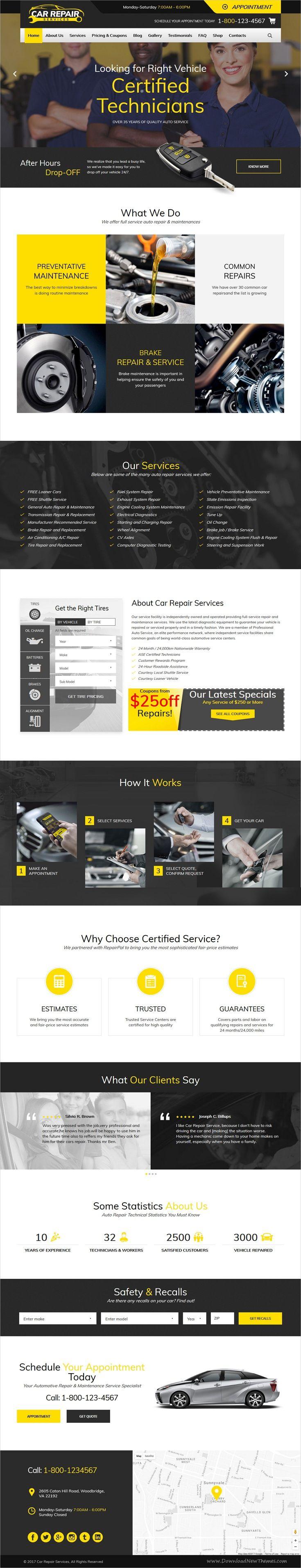 Car Repair Services Auto Mechanic Wordpress Theme Rtl Car Repair Service Car Mechanic Automotive Repair Shop