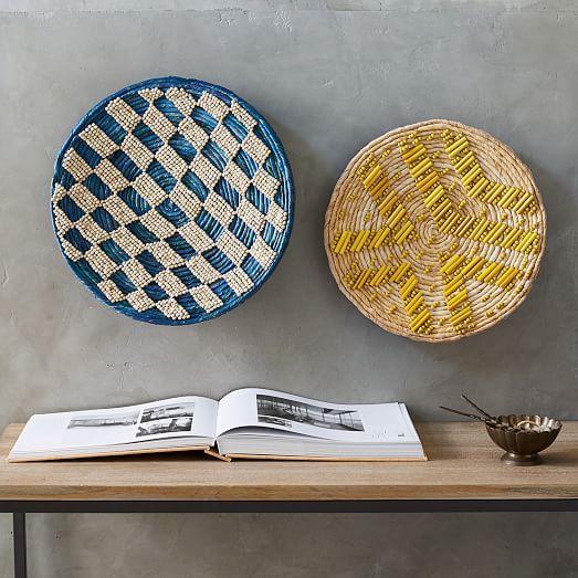 Decorative Wall Baskets Westelm Basket Wall Decor Baskets On