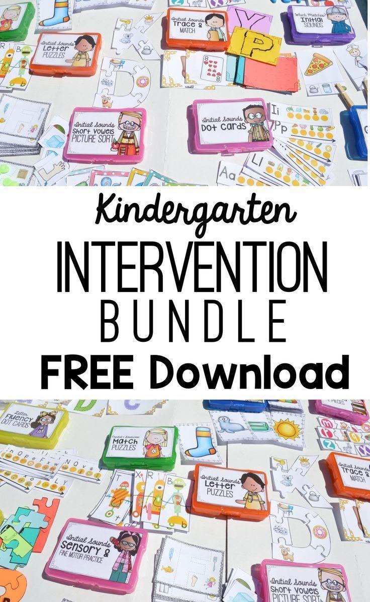 Kindergarten Phonics Intervention Free Download Letter