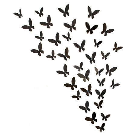 Found It At Wayfair Rowhouse Bursts Butterflies Wall Art Set Ideias Stencil Silhueta