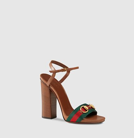 c375fd2a9d4b Gucci - leather t-strap sandal with web 384816H90208462
