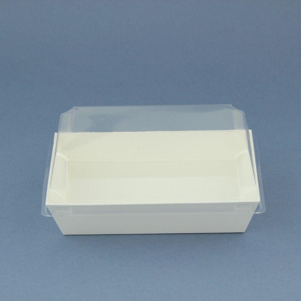 علب كرتون مستطيلة بغطاء بلاستيك شفاف العدد 10 الحجم الطول 13 5 العرض 7 5 الارتفاع 3 5 الغطاء الطول 10 Things Container Takeout Container