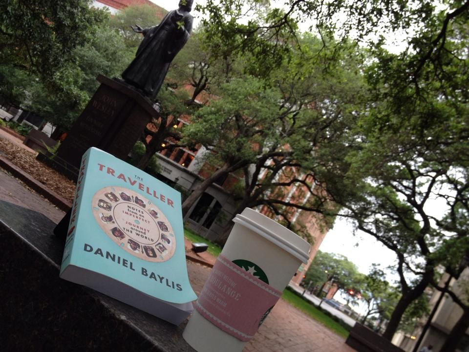 """Early morning latte and a read."" — Mark Hudson (in Savannah, Georgia)"