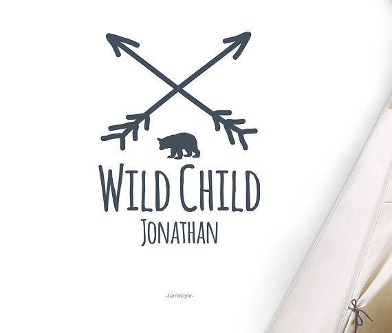 """Wandtattoo Wandsticker """"wild child"""" personalisierbar"""
