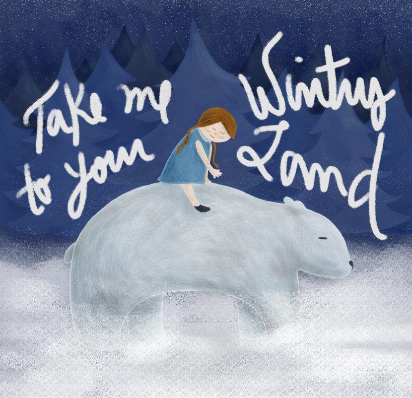 #illustration # polar bear #bear #girl #winter http://cargocollective.com/isabelkwon/Personal-Illustration