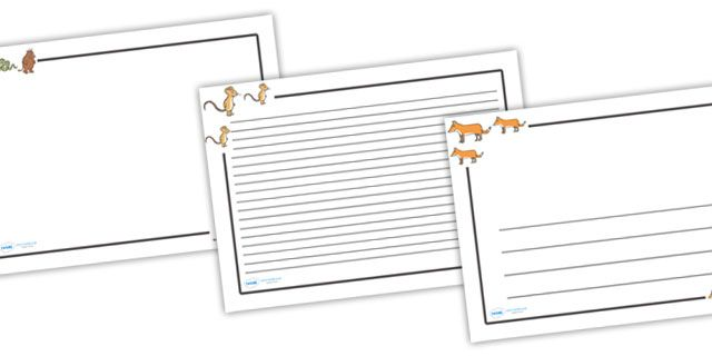 Twinkl Resources >> The Gruffalo Page Borders (Landscape