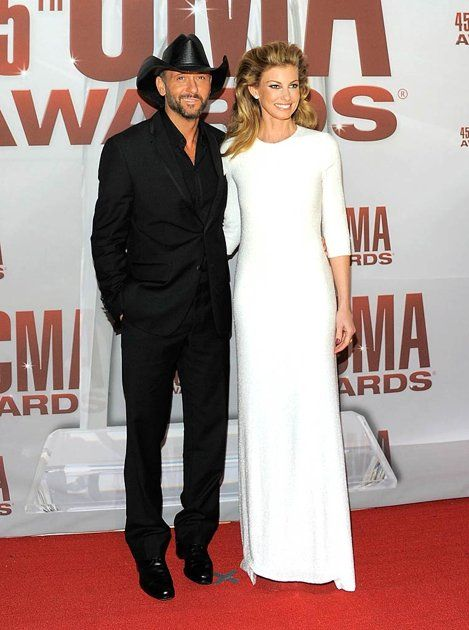 so chic, the hair not so much... Faith Hill 2011 CMA Awards