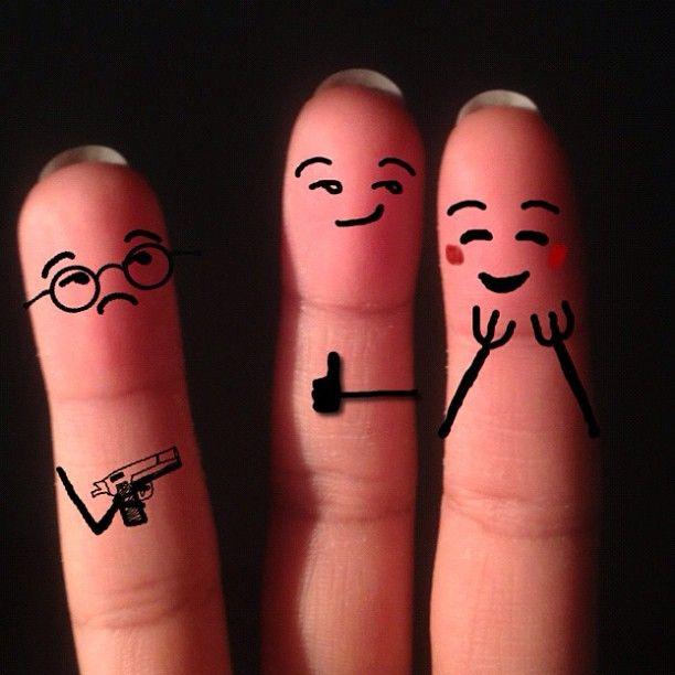 прикольные рисунки на пальцах фото популярных