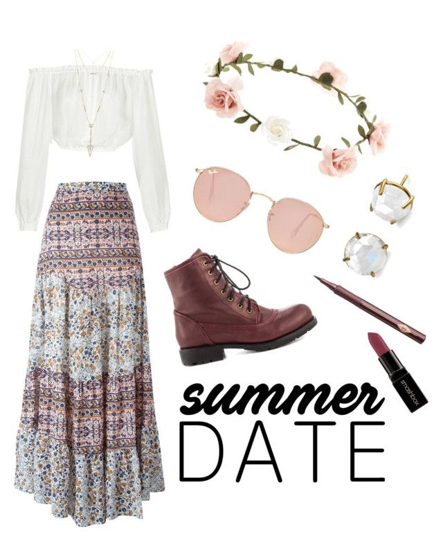 """Summer Date"" by raynedeer ❤ liked on Polyvore featuring Ray-Ban, Elizabeth and James, See by Chloé, Chinese Laundry, Accessorize, Charlotte Tilbury, House of Harlow 1960, Irene Neuwirth, Smashbox and summerdate"