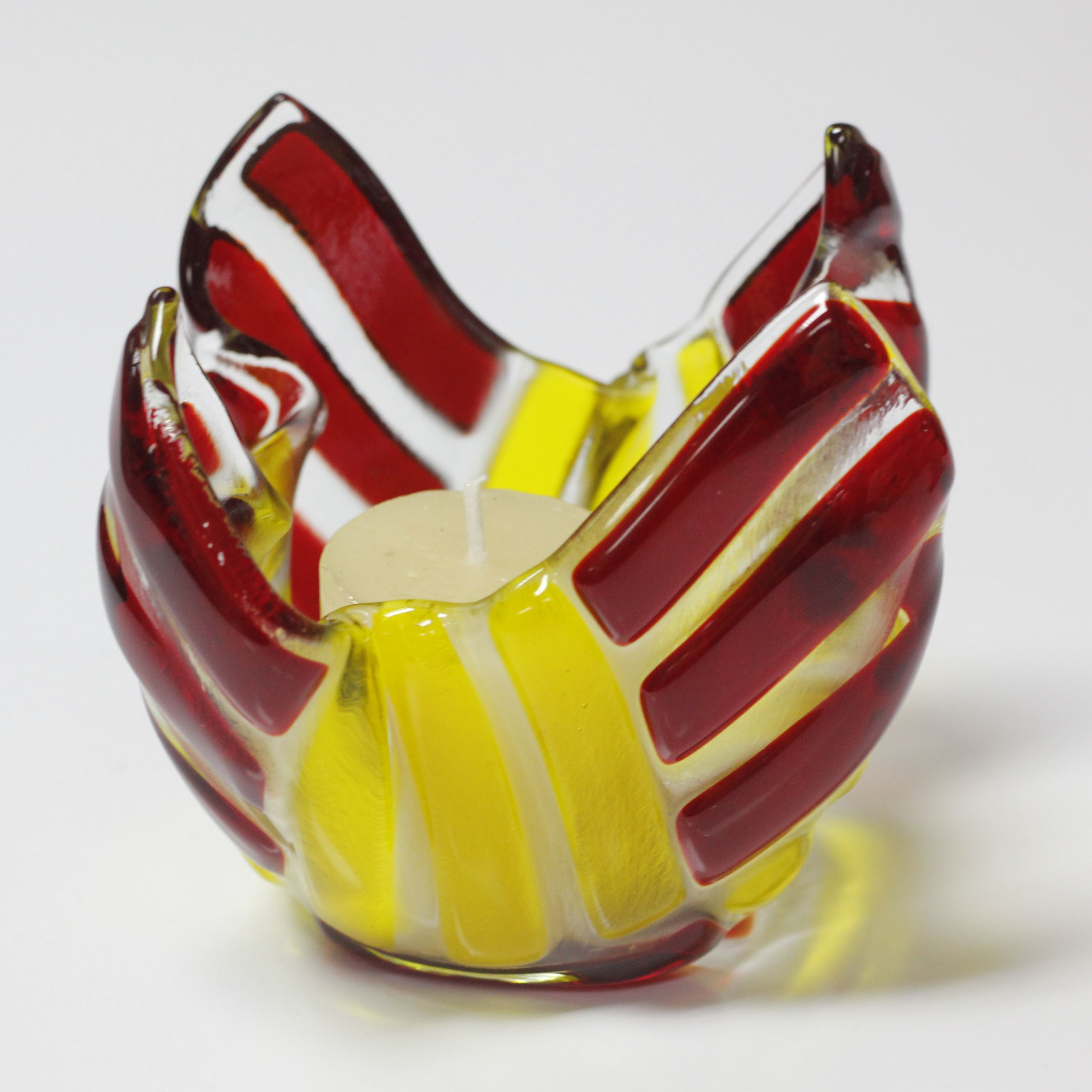 Cheeky red and yellow spectrum used on this candle light holder