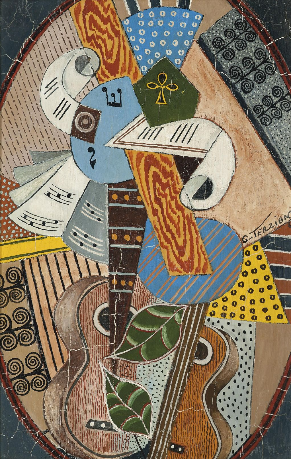 Les Deux Guitares By Georges Terzian With Images Obrazy Gitara